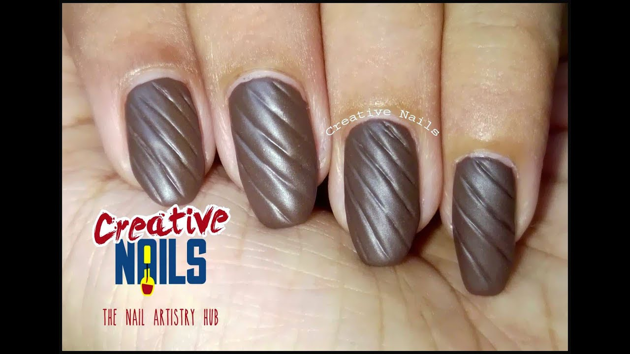 Quilted Nail Art Diy Tutorial Youtube