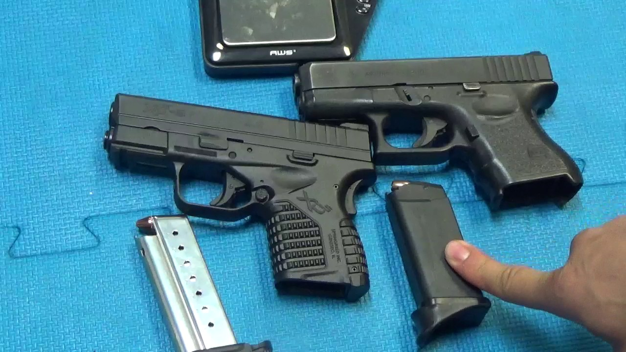 Glock 26 9mm vs. Springfield XDS 9mm - YouTube
