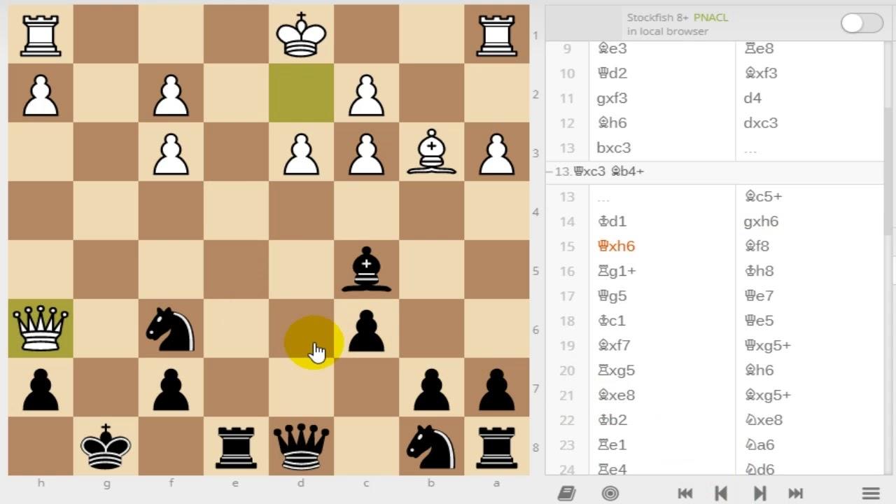 チェスの感想戦 フレンチディフ...