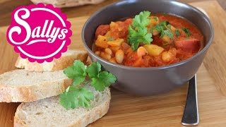 Kartoffel-Bohnen-Eintopf einfach & schnell mit Tomatensoße / auch vegan möglich