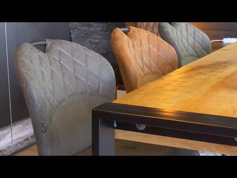 Stapelbare eetkamerstoel Fay eco-leer cognac
