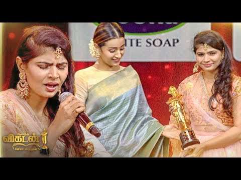 MAGIC: Chinmayi's STUNNING Kaadhale Kaadhale Performance on Stage |Ananda Vikatan Cinema Awards 2018