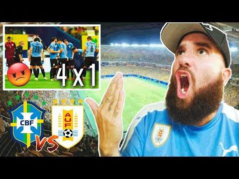 BRASIL 4 x 1 URUGUAY   7 GOLES EN 2 PARTIDOS 🤬 VERGONZOSO!!   Reacción De Un Hincha