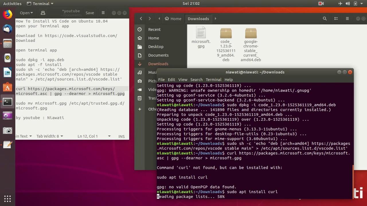 How To Install Visual Studio Code in Ubuntu 18 04 Bionic