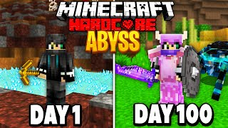 I Survived 100 Days of Hardcore Minecraft in the Abyss.. Here's What Happened..