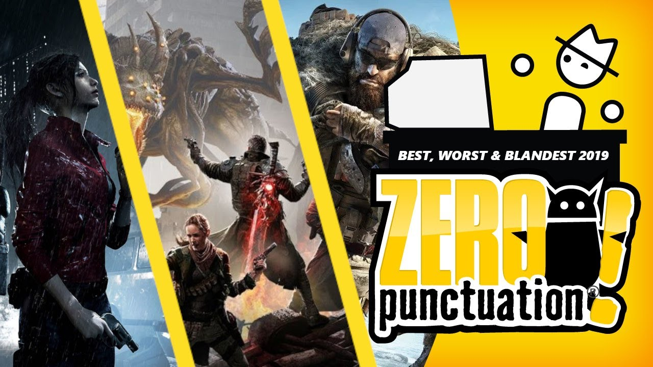 The Best, Worst & Blandest of 2019 (Zero Punctuation) (Video Game Video Review)