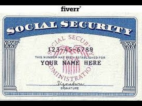 A mandela effect story youtube for Make a social security card template