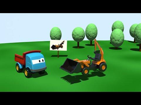 Excavadora -  Leo la Troca Curiosa - Carros para niños
