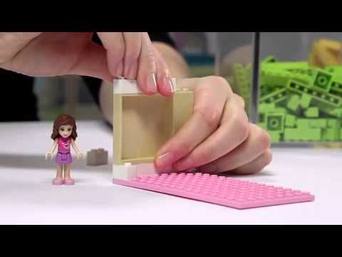 lego friends wie baue ich ein bett f r olivia youtube. Black Bedroom Furniture Sets. Home Design Ideas