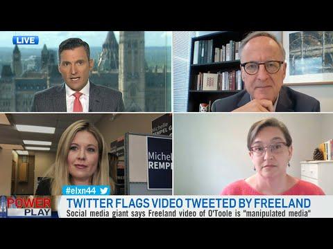 Health-care debate ignited after Twitter labels Freeland's tweet as 'manipulated media'
