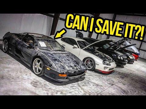 My Cheap Ferrari Finally Comes Home!! (And BIG SHOP NEWS!) - GARAGE UPDATE