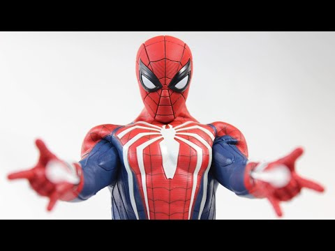 Hot Toys Spider Man PS4 (Advanced Suit) 1/6 Scale Sideshow Collectible VGM31 Action Figure Review