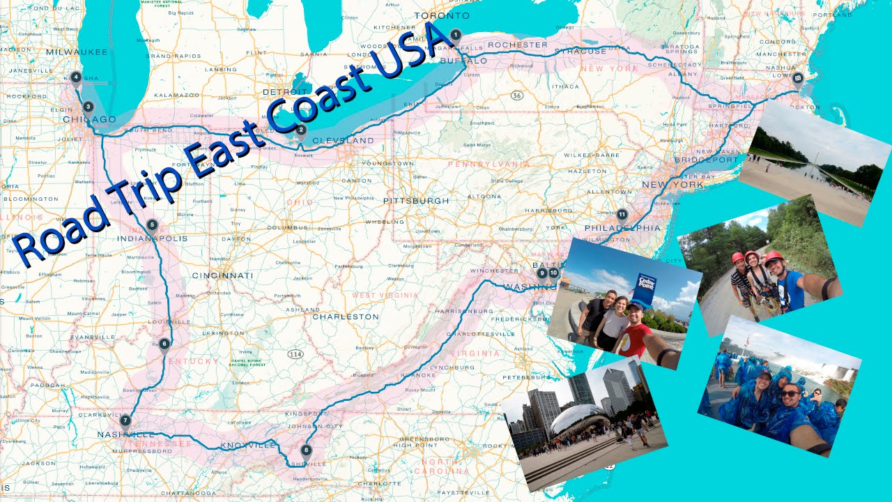 Road trip east coast usa 2015 youtube for East coast road trip from new york
