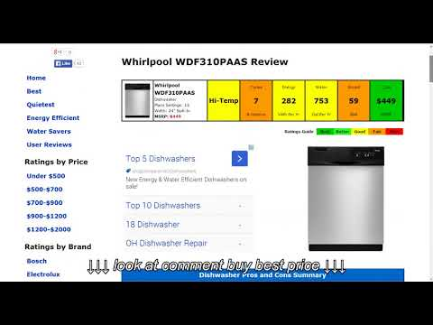 Whirlpool WDF310PAAS Dishwasher Review