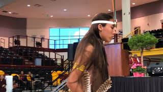 HH Sakya Trichen Rinpoche Cultural Exchange Santa Fe Indian School - Butterfly Dancer Clip 1