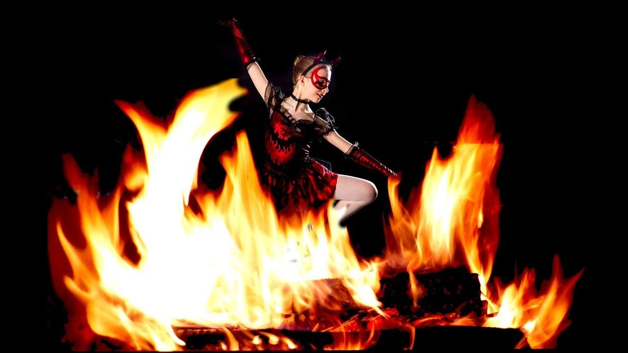 Erotic fire dancing