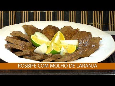 ROSBIFE COM MOLHO DE LARANJA