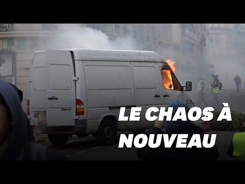 L'acte IV des gilets jaunes à Paris a débuté calmement avant de dégénérer