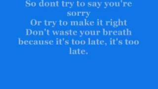 Simple Plan - Your Love Is A Lie With Lyrics Mp3