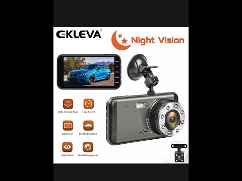 EKLEVA Dual Dash Cam HD Front And Rear Night Vision Car Camera 4inch FEATURES AND REVIEW