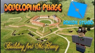 Speed Building Fort McHenry! - [Roblox Studio] Design Phase