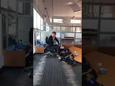 The Ace & TJ Show - Man Captures Coworker's Desk Falling Apart!