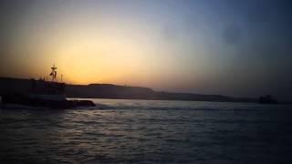 قناة السويس الجديدة : مشهد فريد ورائع للغروب فى قناة السويس مايو 2015