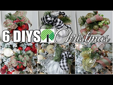 "🎄6 DIY DOLLAR TREE CHRISTMAS DECOR CRAFTS 2019 🎄""I Love Christmas"" ep 3 Olivia's Romantic Home DIY"
