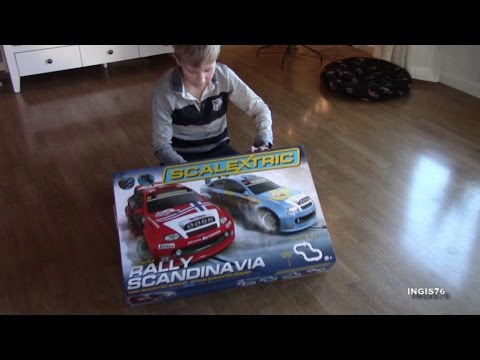 SCALEXTRIC PART 1 UNBOXING AND RACING FUN FATHER & SON SLOTCAR FUN