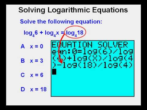 Solving Logarithmic Equations - YouTube