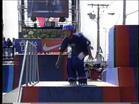 Matty Mantz - XGames 1996 Rollerblading Street Finals - 1st Run