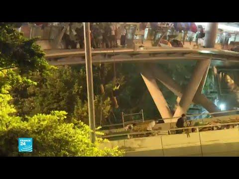 هونغ كونغ: الشرطة تحاصر جامعة يتحصن فيها متظاهرون بينهم طلاب ثانوية  - نشر قبل 50 دقيقة