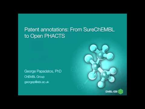 Webinar: SureChEMBL Patent Annotations in Open PHACTS