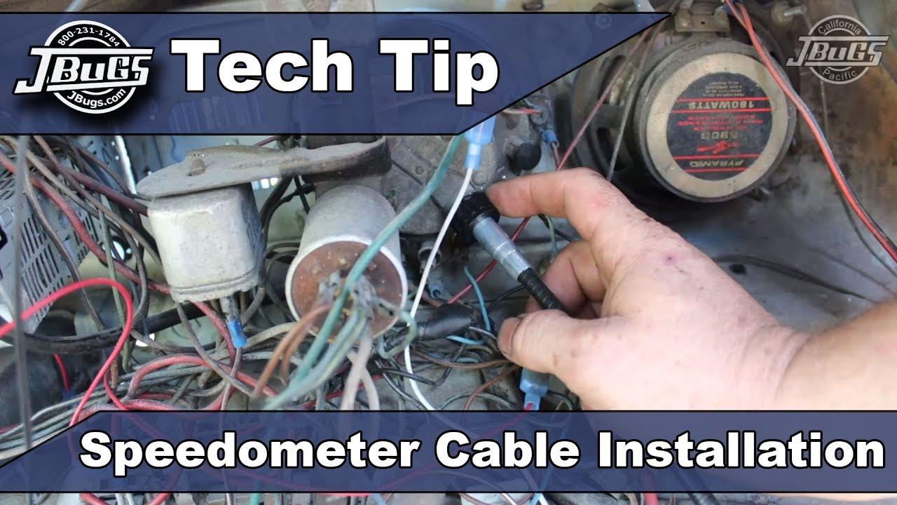jbugs tech tip speedometer cable installation [ 1280 x 720 Pixel ]