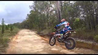 KTM 690 Enduro and DRZ400 hill climbs and single track and Glass House Mountains