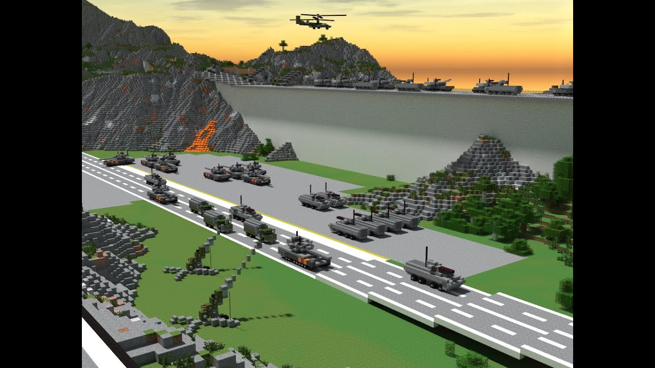 майнкрафт карты военных баз #5