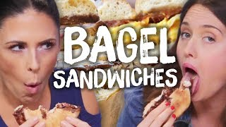 INSANE Bagel Sandwich Combinations!! (Cheat Day)