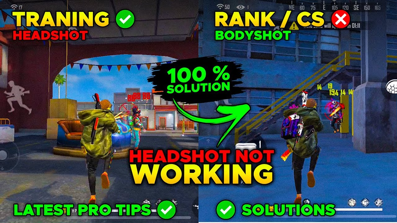 WHY ONE TAP HEADSHOT NOT WORKING IN RANK MODE / CS  100% SOLUTION -LATEST SETTING / TRICK FOR MOBILE