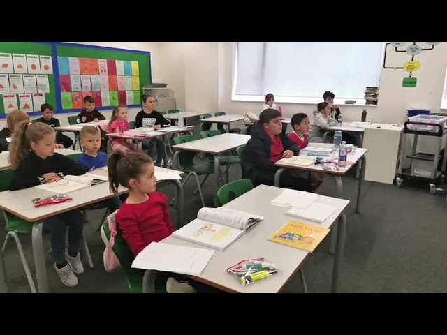Students of Nene Tereza in the  Clasroom