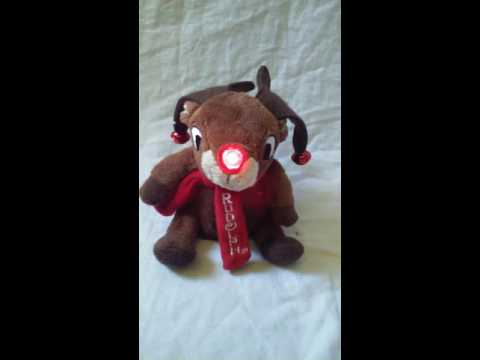Rudolph The Red Nose Reindeer Singing Plush Toy