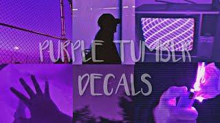 Roblox Bloxburg - Purple Tumblr Picture Codes