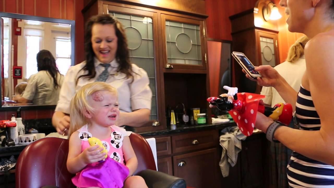 First Haircut At Harmony Barbershop At Disney World In Magic Kindgom