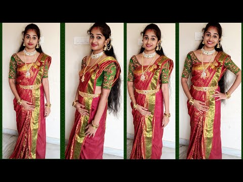 How To Wear MAHARANI Style Saree Perfectly In Just 10Minutes   Saree Draping Ideas