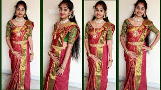 How To Wear MAHARANI Style Saree Perfectly  In Just 10Minutes|| Saree Draping Ideas