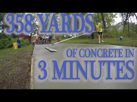 358.8 Yards of Concrete Poured and Finished in Under 3 Minutes