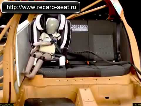 Краш-тест детского автокресла Recaro Monza Nova 2 Seatfix