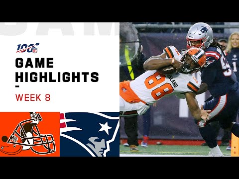 Browns vs. Patriots Week 8 Highlights | NFL 2019