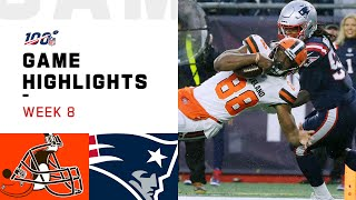 Browns vs. Patriots Week 8 Highlights | NFL 2019