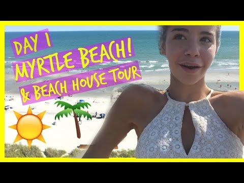 ARRIVED AT MYRTLE BEACH & Beach Condo Tour!