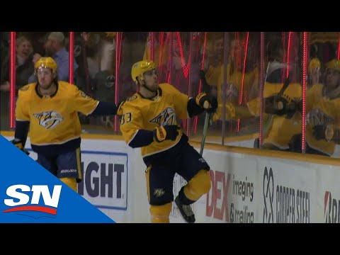 Predators' Mattias Ekholm springs Viktor Arvidsson for a breakaway goal